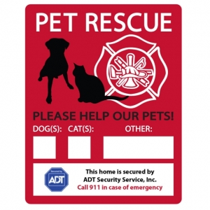 Emergency Pet Rescue Window Decals