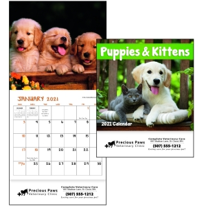 Mini 12 Month Puppy & Kitten Calendar