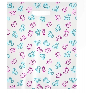 Cartoon Dog & Cat Faces (Teal & Pink) MSP1007