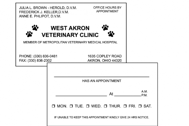 Appointment Cards (2 Sided Imprint)